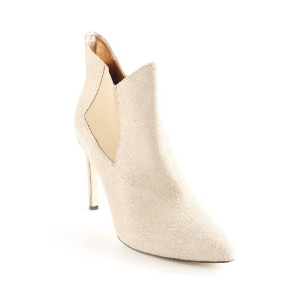 Fornarina High Heel Stiefel beige-goldfarben Matt-Optik