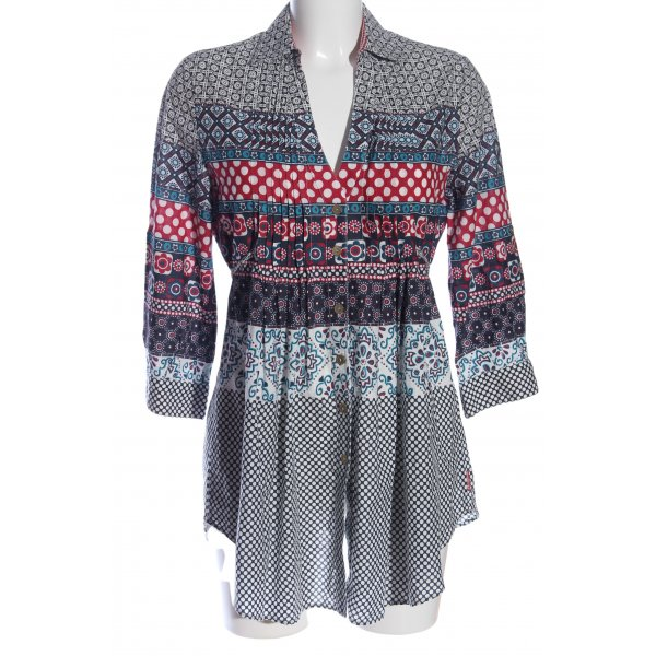 Fornarina Langarm-Bluse Allover-Druck Casual-Look