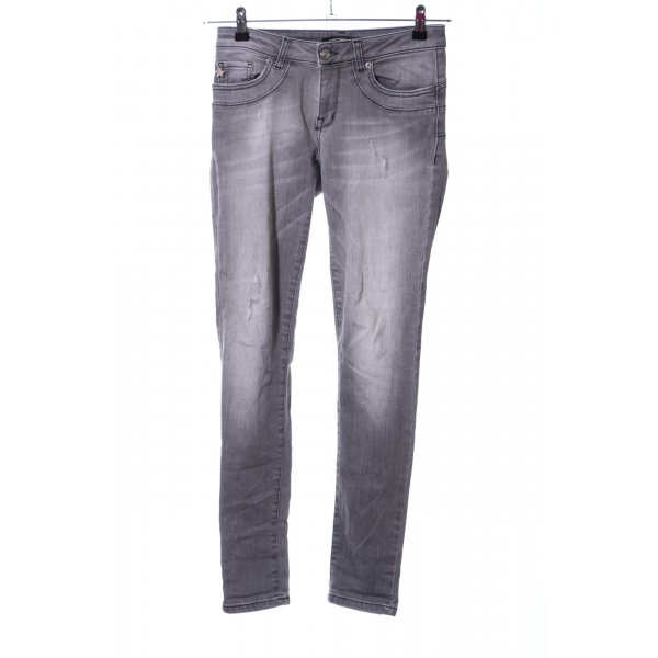 Fornarina Skinny Jeans hellgrau Casual-Look