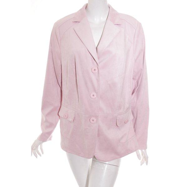 Frank Walder Jerseyblazer rosé Materialmix-Look