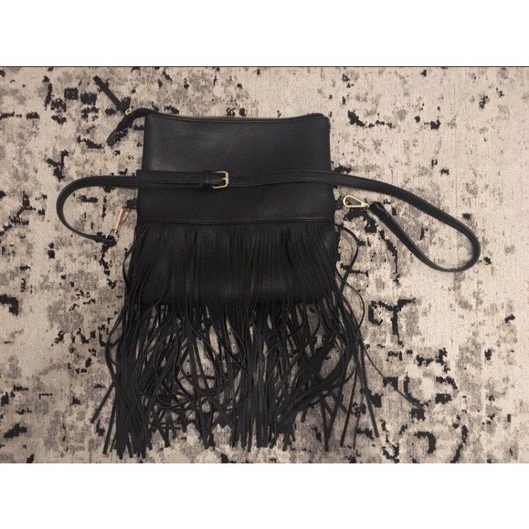 fransige Handtasche aus