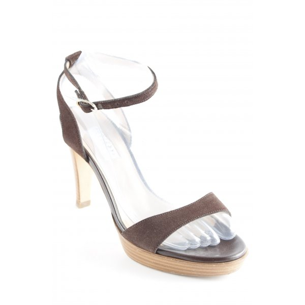 Fratelli rossetti High Heel Sandaletten dunkelbraun Casual-Look