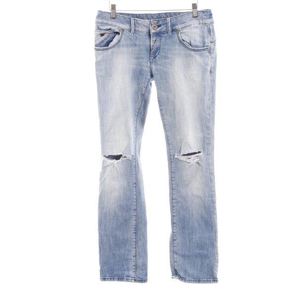 Freesoul Jeans bootcut bleu azur style décontracté