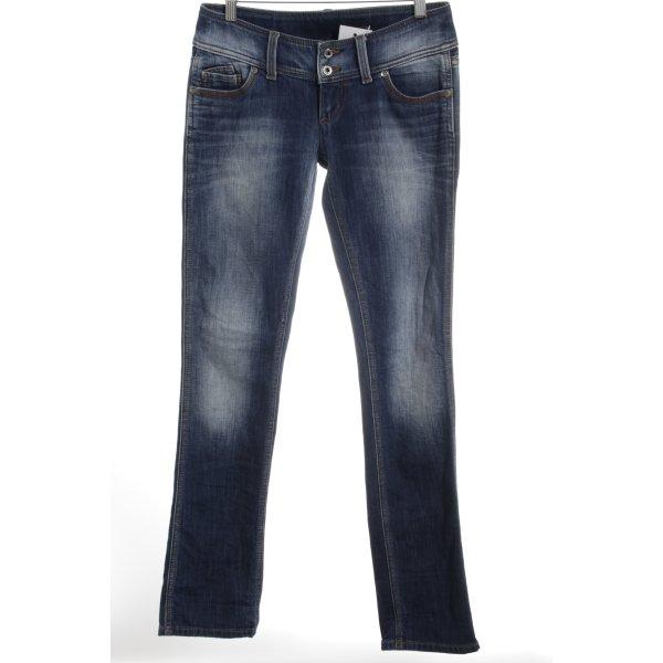Freesoul Straight-Leg Jeans dunkelblau-hellgrau Casual-Look