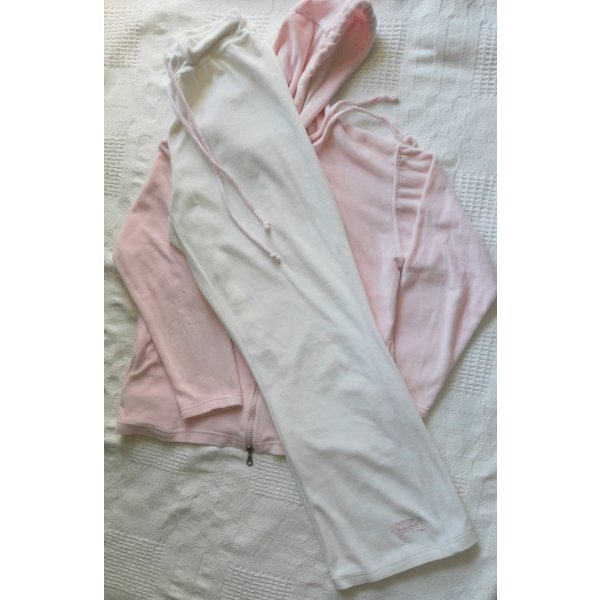 Chándal blanco puro-rosa claro tejido mezclado