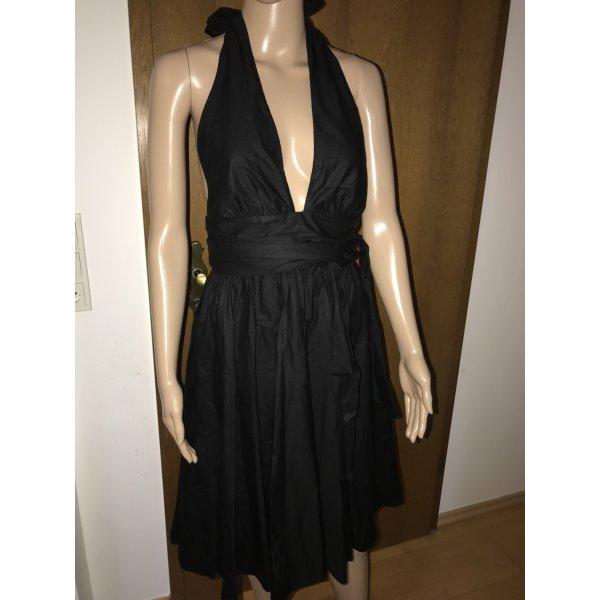 French Connection Kleid Schwarz Marilyn Monroe Stil Gr. UK 8 DE 36
