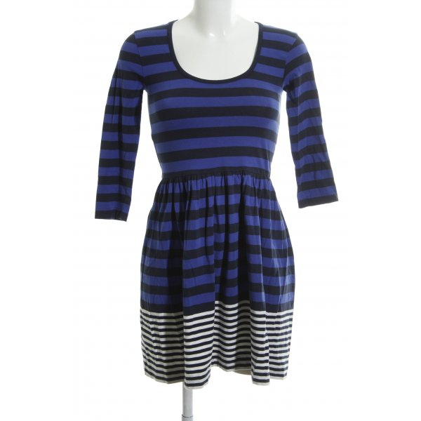 French Connection Langarmkleid Streifenmuster Casual-Look