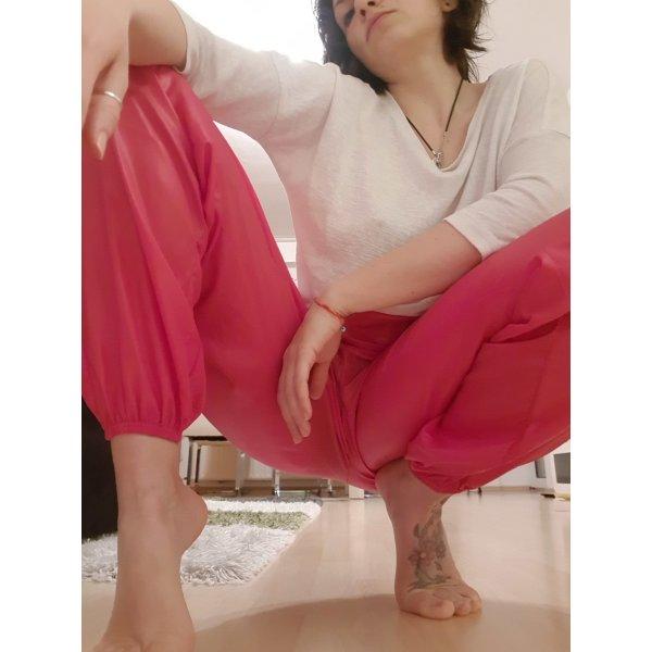 Fuchsia track pants