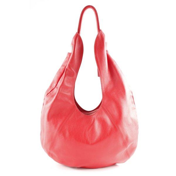 Furla Beuteltasche weiß-rot Street-Fashion-Look