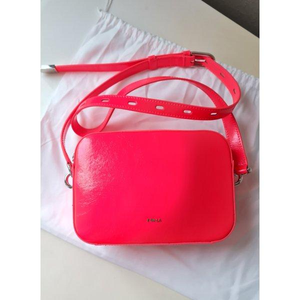Furla Original Echtleder Tasche Minibag Umhängetasche in Pink Neu