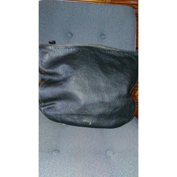 Furla Tasche schwarz braun beige Echtleder Italy Luxus Bag Hochwertig & Edel