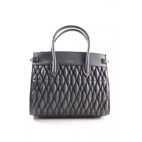 Furla Tote schwarz Steppmuster Business-Look