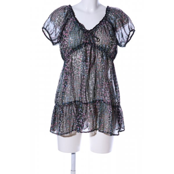 G!na Transparenz-Bluse Allover-Druck Casual-Look