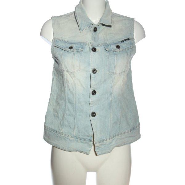G-Star Jeansweste blau Casual-Look