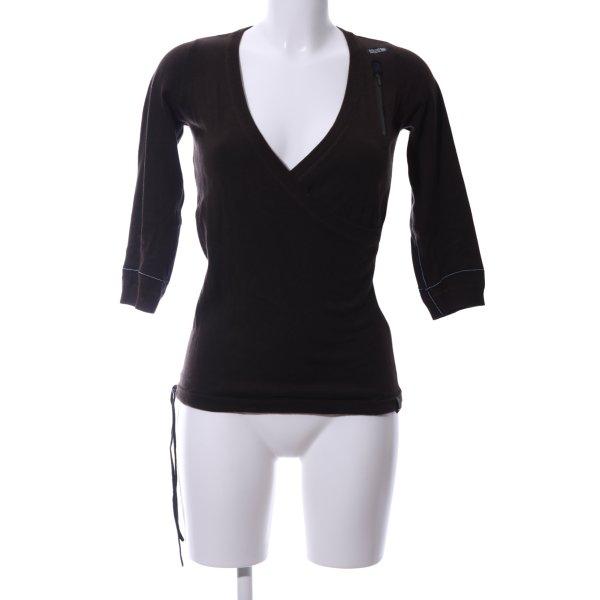 G-Star V-Ausschnitt-Pullover braun Casual-Look