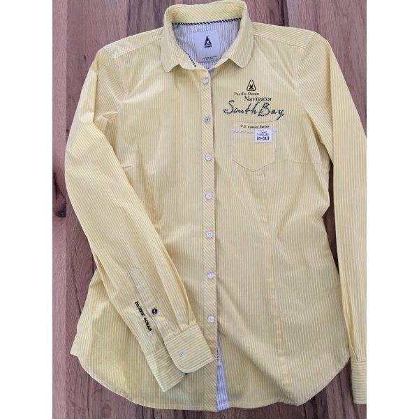 Gaastra Bluse Streifen Gelb Strass XS 34