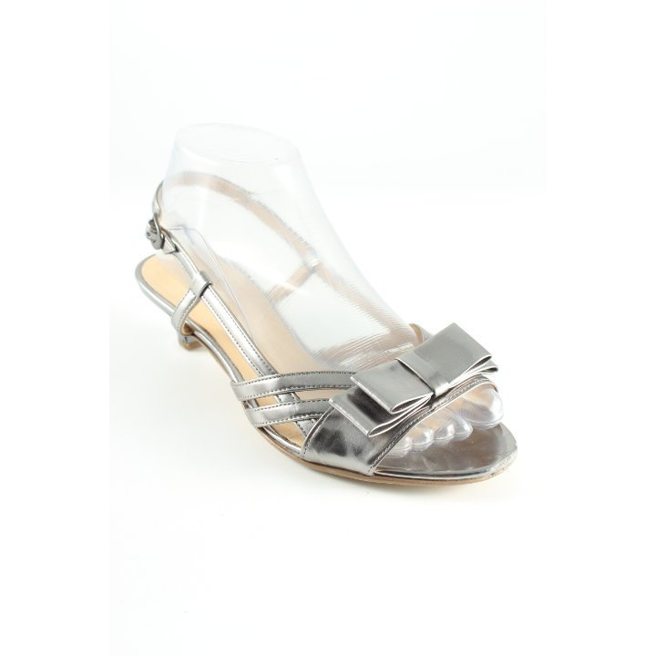 Gabor High Heel Sandaletten silberfarben Elegant