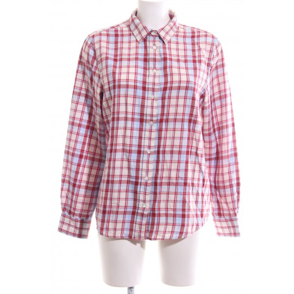 Gant Karobluse rot-wollweiß Allover-Druck Casual-Look