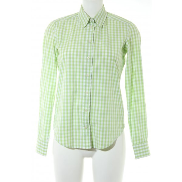 Gant Langarmhemd blassgrün-wollweiß Vichykaromuster Business-Look