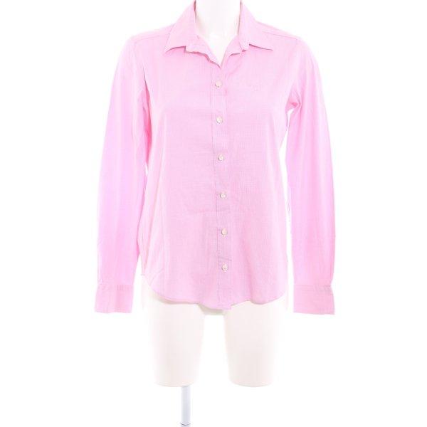 Gant Langarmhemd rosa-wollweiß Karomuster klassischer Stil