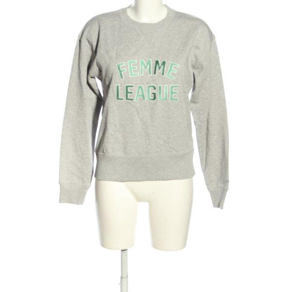 Gant Sweatshirt hellgrau meliert Casual-Look