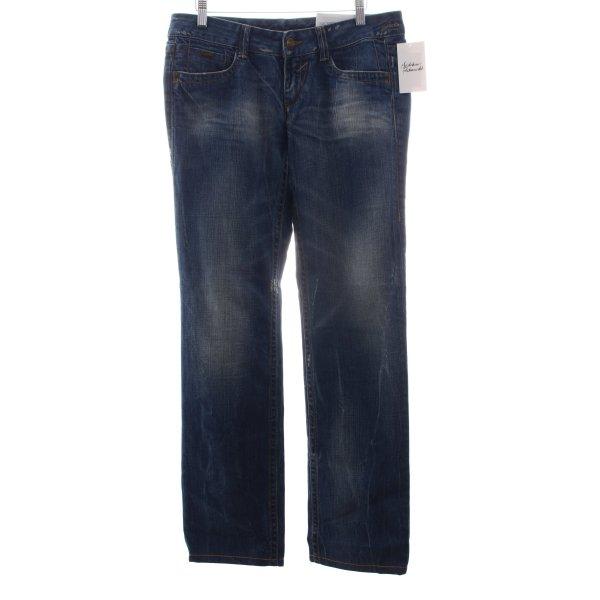 "Gas Straight-Leg Jeans ""Darline Brillant Denim"""