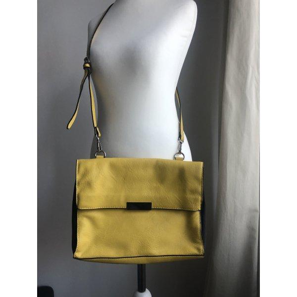 Gelbe Handtasche   Magnetverschluss
