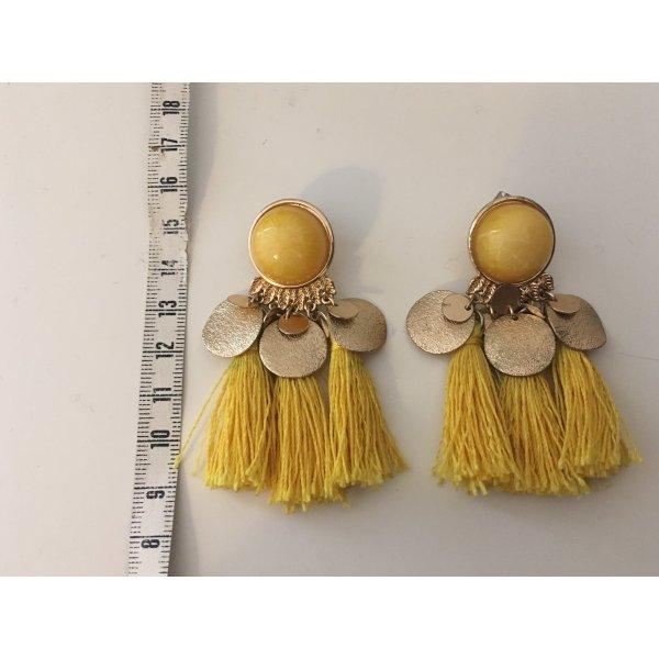 Gelbe Ohrringe