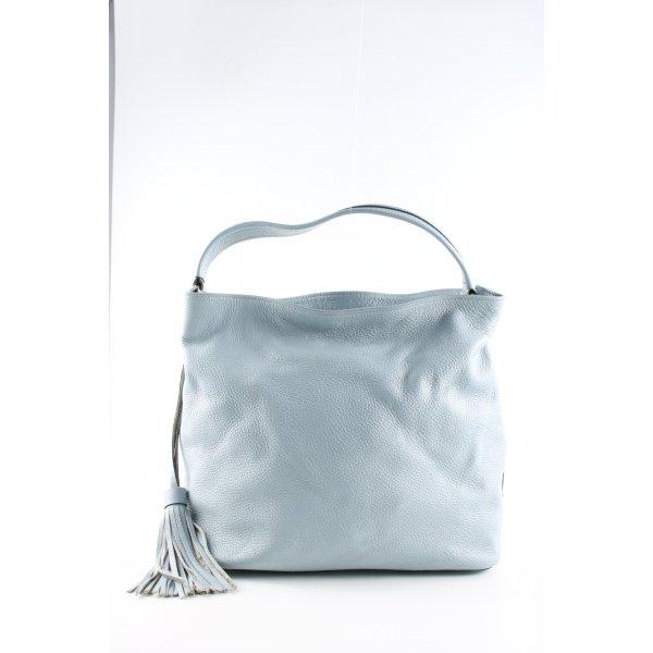 Genuine Leather Henkeltasche blau Casual-Look