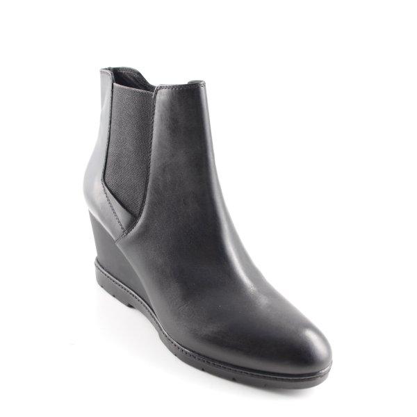 Geox Keil-Stiefeletten schwarz Casual-Look