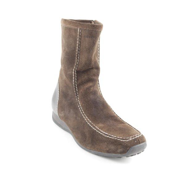 Geox Korte laarzen donkerbruin casual uitstraling