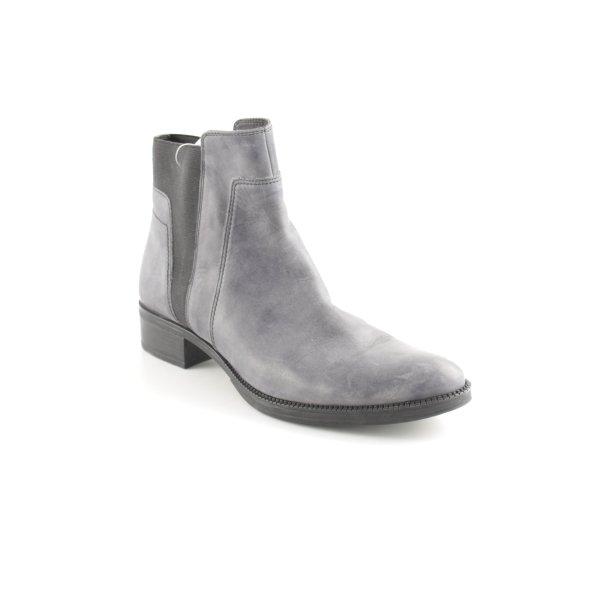 Geox Reißverschluss-Stiefeletten graublau-schwarz Casual-Look