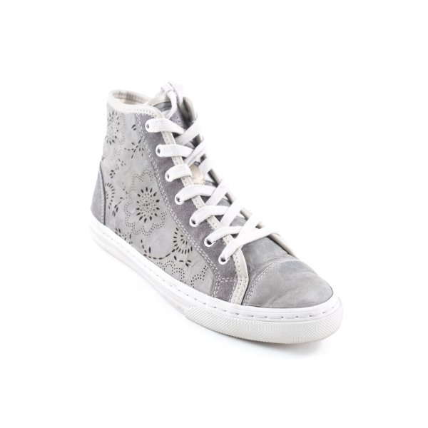 Geox Respira High Top Sneaker taupe-hellbeige grafisches Muster Casual-Look