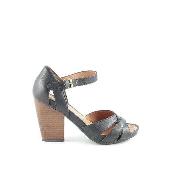 Geox Respira Riemchen-Sandalen schwarz-braun