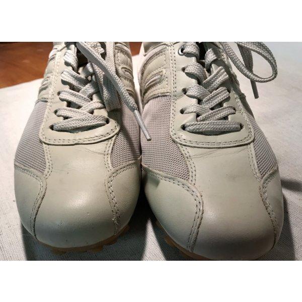 GEOX Sneakers sandfarben Leder/Gewebe 38