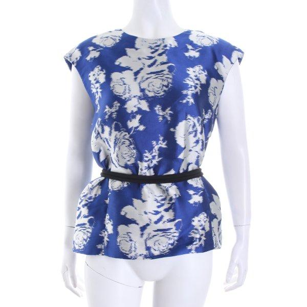 Gerard darel Shirttunika blau-silberfarben abstraktes Muster klassischer Stil