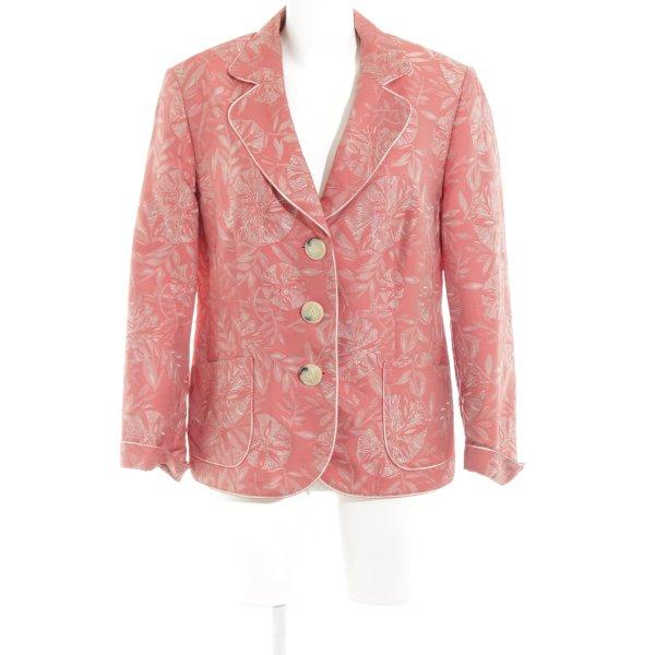 Gerry Weber Jerseyblazer lachs-hellgrau florales Muster Business-Look