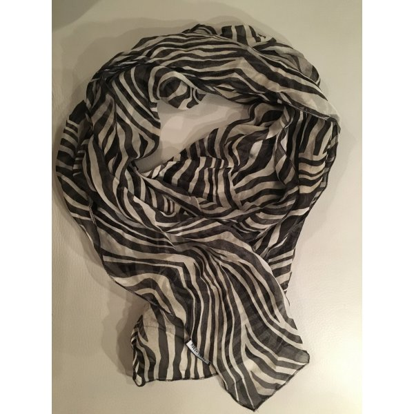 Gerry Weber Sciarpa di seta bianco-nero