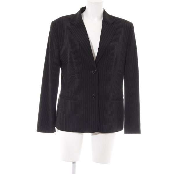 Gerry Weber Long-Blazer schwarz Nadelstreifen Business-Look