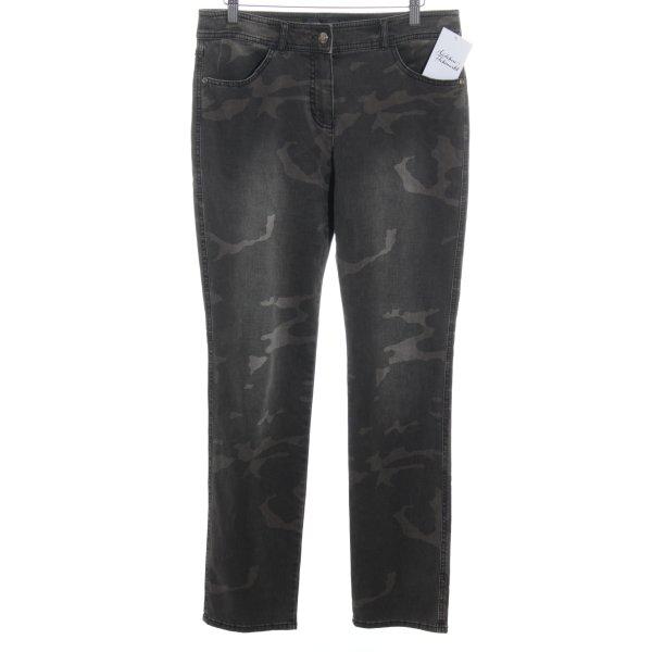 Gerry Weber Jeans slim fit marrone-grigio-marrone scuro Motivo mimetico