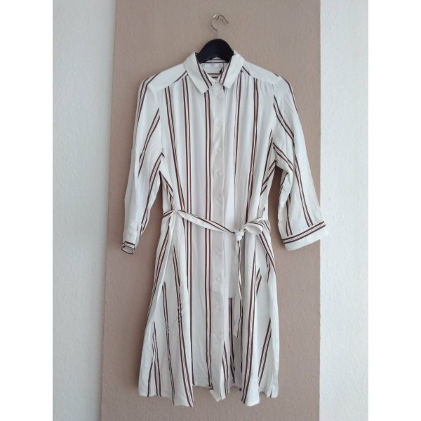 gestreiftes Mini-Hemdblusenkleid aus 100% Viskose, Grösse M, neu