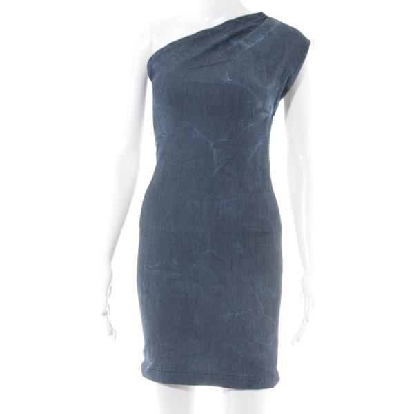 Gestuz One-Shoulder-Kleid blau