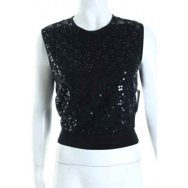 Gianfranco Ferré Cropped Top schwarz Party-Look