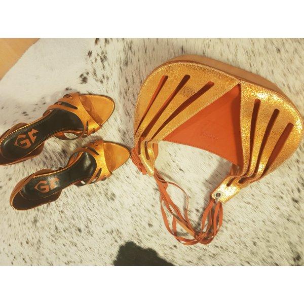 gianfranco ferre handtasche und pumps 38