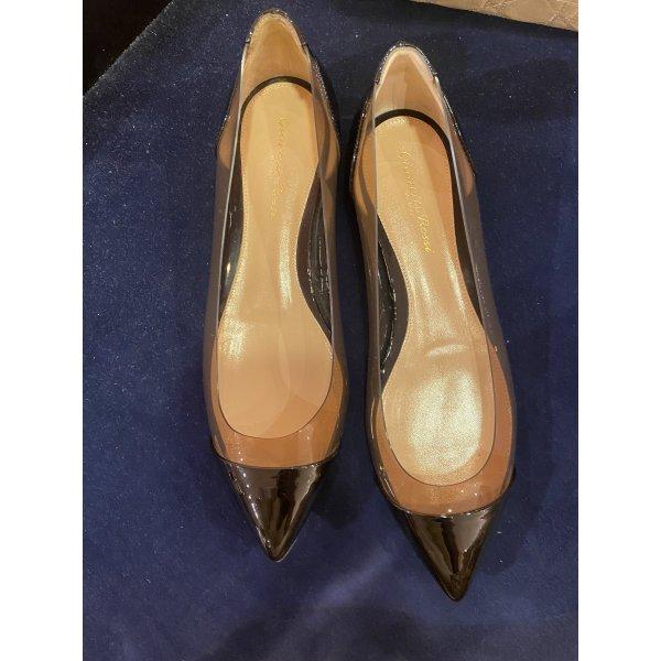 Gianvito Rossi Ballerina 38 Schuhe schwarz