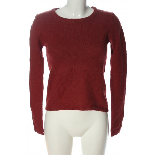 Gin Tonic Rundhalspullover rot Casual-Look