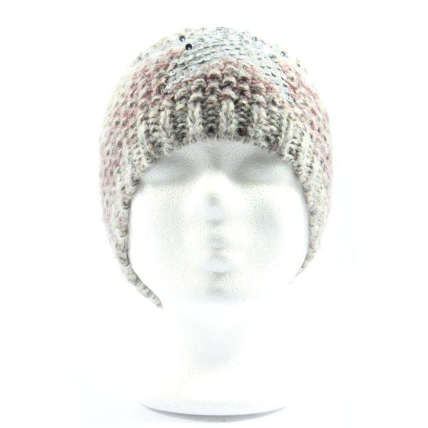 Gina Benotti Crochet Cap light grey-pink flecked casual look
