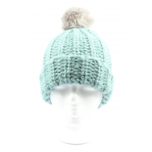 Gina Benotti Knitted Hat turquoise casual look