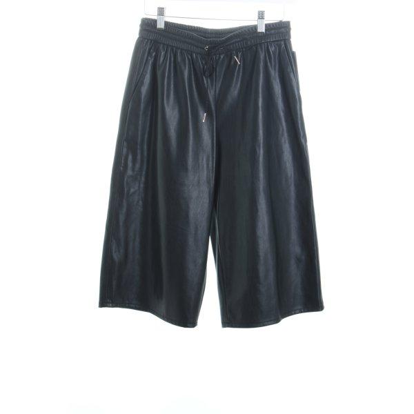 Gina Tricot Culottes schwarz Leder-Optik