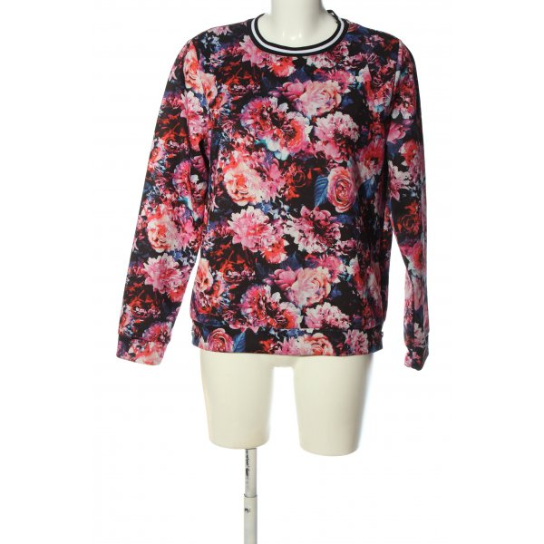 Gina Tricot Sweatshirt Allover-Druck Casual-Look